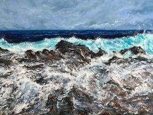 Лазоревый шторм или Как картина не впускала в себя цвет. Ярмарка Мастеров - ручная работа, handmade.