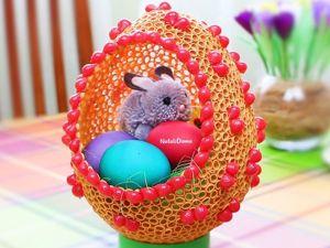 Как сделать красивое ажурное пасхальное яйцо из макарон. Ярмарка Мастеров - ручная работа, handmade.