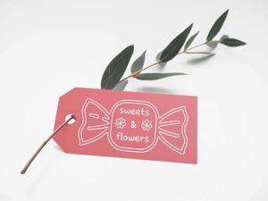Конфетно-цветочный логотип. Ярмарка Мастеров - ручная работа, handmade.
