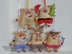Шьем игрушку-подвеску «Веселый поросенок». Ярмарка Мастеров - ручная работа, handmade.