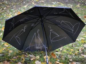 Как расписать черный зонт. Ярмарка Мастеров - ручная работа, handmade.
