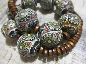 Этнические бусы из полимерной глины. Ярмарка Мастеров - ручная работа, handmade.