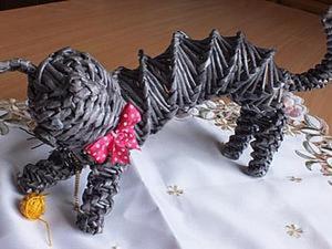 """Видео мастер-класс: плетение из газет """"Кошка"""". Ярмарка Мастеров - ручная работа, handmade."""