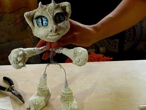 Создаем каркасную игрушку из меха и глины. Ярмарка Мастеров - ручная работа, handmade.