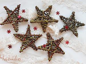 Плетем звезду — новогодний декор в рустикальном стиле. Ярмарка Мастеров - ручная работа, handmade.