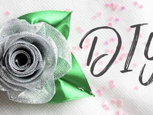 Создаем блестящую розу из парчовой ленты. Ярмарка Мастеров - ручная работа, handmade.