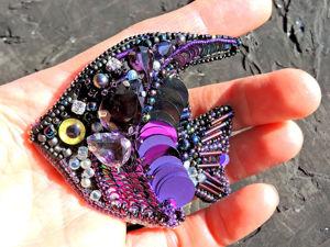 Видео брошки-рыбки. Ярмарка Мастеров - ручная работа, handmade.