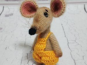 Вяжем игрушку «Крыс Желток». Ярмарка Мастеров - ручная работа, handmade.