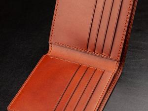 Коричневый кошелек из натуральной итальянской кожи буттеро. Ярмарка Мастеров - ручная работа, handmade.