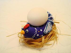 Мастер-класс: Пасхальная курочка – подставка под яйцо. Ярмарка Мастеров - ручная работа, handmade.