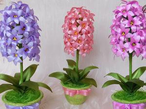 Видео мастер-класс: делаем интерьерные цветы. Гиацинт. Ярмарка Мастеров - ручная работа, handmade.