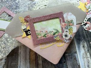 Интерактивный фотоальбом  «Роскошный фламинго». Ярмарка Мастеров - ручная работа, handmade.