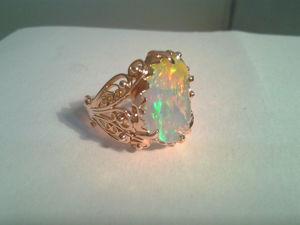 Видео: Кольцо  «мАльдивы» .Золото. Опал. Ярмарка Мастеров - ручная работа, handmade.