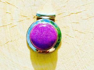 Серебряный кулон 925 пробы с пурпуритом , купить со скидкой. Ярмарка Мастеров - ручная работа, handmade.