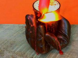 Делаем необычный держатель для новогодней свечи. Ярмарка Мастеров - ручная работа, handmade.