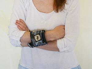 Шьем оригинальный джинсовый браслет. Ярмарка Мастеров - ручная работа, handmade.