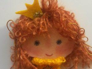 Делаем милую брошку-куклу из фетра. Ярмарка Мастеров - ручная работа, handmade.