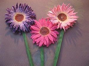 Цветы для декора «Герберы» из войлока. Ярмарка Мастеров - ручная работа, handmade.