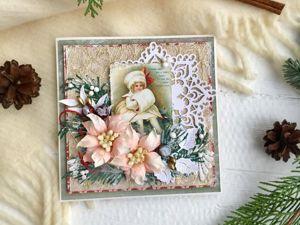 Ценопад на новогодние открытки  начался! До Нового года 10 дней!. Ярмарка Мастеров - ручная работа, handmade.