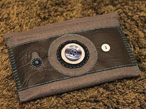 """Шьем чехол """"Фотоаппарат"""" из фетра и искусственной кожи. Ярмарка Мастеров - ручная работа, handmade."""