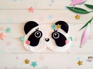 Шьем маску для сна «Панда». Ярмарка Мастеров - ручная работа, handmade.