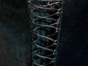 Делаем шнуровку на воздушных петлях. Ярмарка Мастеров - ручная работа, handmade.