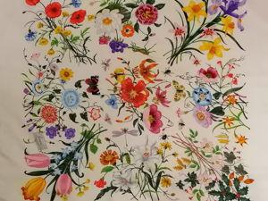 Gucci Flora Легендарный ,изумительно красивый и качественный шелковый платок. Ярмарка Мастеров - ручная работа, handmade.