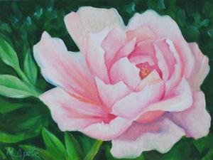 Пишем маслом розовый пион. Ярмарка Мастеров - ручная работа, handmade.