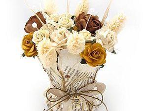 Мастер-класс по бумажной вазе с цветами. Ярмарка Мастеров - ручная работа, handmade.