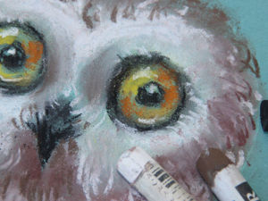 Рисуем с детьми мягкой пастелью сову. Ярмарка Мастеров - ручная работа, handmade.