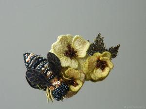 АУкцион на 4 вышитых украшения с пчелками. Ярмарка Мастеров - ручная работа, handmade.
