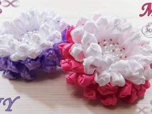 Делаем резинки с цветами для волос. Ярмарка Мастеров - ручная работа, handmade.