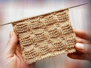Вяжем очень простой рельефный узор спицами. Ярмарка Мастеров - ручная работа, handmade.