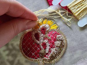 Вышивка граната. Ярмарка Мастеров - ручная работа, handmade.