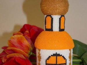 Шкатулка-храм из бисера. Ярмарка Мастеров - ручная работа, handmade.