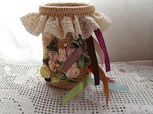 Вяжем корзинку для хранения атласных лент. Ярмарка Мастеров - ручная работа, handmade.