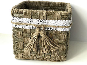 Плетем корзинку из джута своими руками. Ярмарка Мастеров - ручная работа, handmade.