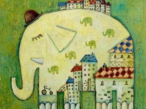 Пока спят слоны. Ярмарка Мастеров - ручная работа, handmade.