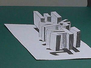 Видео мастер-класс: рисуем оптическую иллюзию «Три иероглифа, висящих над бумагой». Ярмарка Мастеров - ручная работа, handmade.