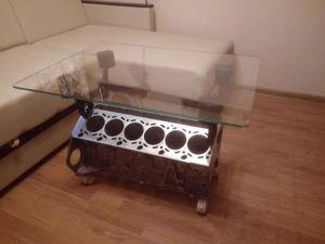 Стол из блока цилиндров V12. Ярмарка Мастеров - ручная работа, handmade.
