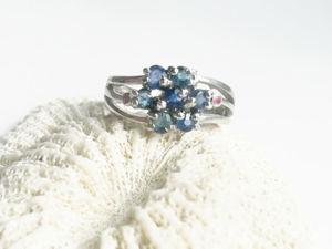 Видео кольцо с натуральными сапфирами и рубинами. Серебро 925 пробы. Ярмарка Мастеров - ручная работа, handmade.