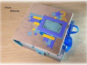 Фотоальбом — дневник и шкатулка  «Мамины сокровища». Ярмарка Мастеров - ручная работа, handmade.