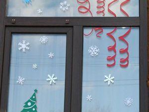 Видео мастер-класс по созданию новогоднего декора для окон «Снежная любовь». Ярмарка Мастеров - ручная работа, handmade.
