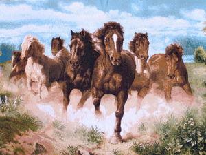 Быстрее Ветра... Гобелены с лошадьми в наличии. Ярмарка Мастеров - ручная работа, handmade.