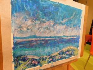 Новая картина! Море. Спокойствие и безметежность. Ярмарка Мастеров - ручная работа, handmade.