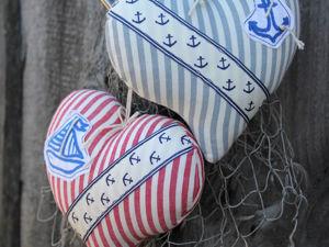 Текстильная декоративная подвеска  «Сердце моря». Ярмарка Мастеров - ручная работа, handmade.