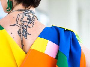 Видео-фрагмент нового платья в духе супрематизма. Ярмарка Мастеров - ручная работа, handmade.