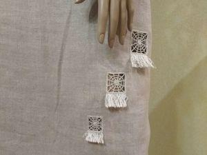 Льняная юбка с вышивкой. Ярмарка Мастеров - ручная работа, handmade.