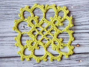 Crocheting Vintage Motif. Livemaster - handmade