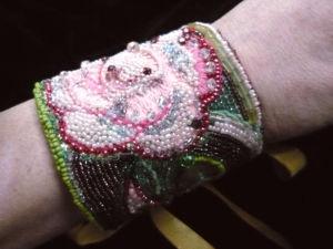 Аукцион на браслет манжету с крупным цветком. Ярмарка Мастеров - ручная работа, handmade.